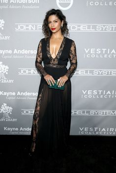 Camila Alves wore a #ZuhairMurad Resort 2017 black lace and georgette gown to the #Baby2Baby Gala. The Fashion Court (@TheFashionCourt) | Twitter