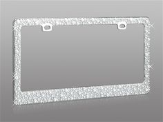 Sassy Multi-Sized Pearls on a chrome  license plate frame