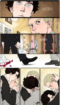 "One of my favorite scenes in the Johnlock fanfic ""Performance in a Leading Role"". Made my heart ache for just thinking about it..."