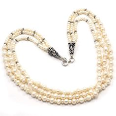 Pearl Gemstone 925 Sterling Silver Necklace Nice Design Jewelry PG 1635 #Pinkcitygems #Necklace