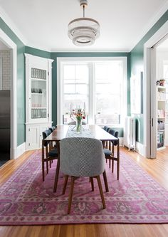 dining room wall color - Sit Down - A Prewar Home Packed With History And High-Style - Photos