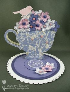 Tea Cup Easel Card by BronJ - Cards and Paper Crafts at Splitcoaststampers