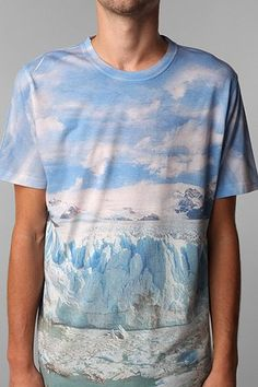 Keep the glaciers alive. FUN Artists Allover Glacier Tee #urbanoutfitters