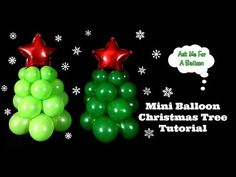 How to make a mini Christmas tree balloon decoration! These tree balloons are perfect for table centerpieces and super easy to make! Lollipop Decorations, Balloon Centerpieces, Christmas Centerpieces, Christmas Tree Decorations, Centerpiece Ideas, Holiday Decor, How To Make Christmas Tree, Mini Christmas Tree, Christmas Crafts