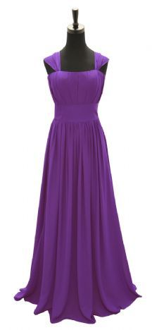 Cadbury Purple Straps Chiffon Floor length Dress