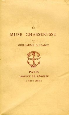 Du Sable. La muse chasseresse. 1884
