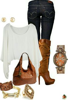 Women's fashion casual boots outfit