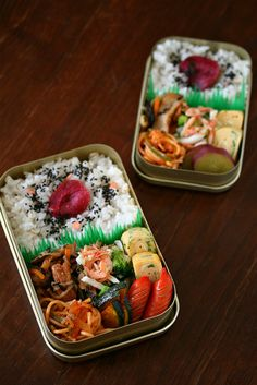 日本人のごはん/お弁当 Japanese meals 具沢山日の丸弁当 THE Japanese Bento Box Lunch by ivory_bell