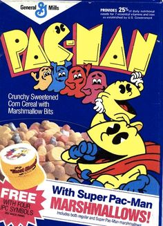 Awesome Pac-Man Cereal Box Designs From The 1980s
