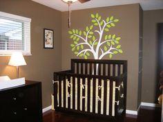 wall color/dark furniture