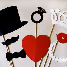 Photo Booth Props   Wedding Decor King and Queen by HandyQueen, $10.49