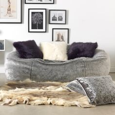 e1d63bdba720 ICON™ Kenai Cloud Two-seater Faux Fur Bean Bag