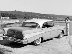 Bel Air Sports Sedan… 1957 Chevrolet Division press release photograph