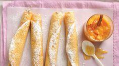 "<span itemprop=""name"">Crepas francesas con mermelada de guayaba</span> Crepes, Sugar Rush, Ethnic Recipes, Natural, Shape, Sweet And Saltines, Dessert Recipes, Delicious Food, French Crepes"