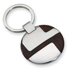 Chisel Polished Stainless Steel and Wood Key Ring Arrives ready for gifting. Free gift packaging included.. Shop with confidence. West Coast Jewelry has been a trusted seller for over 7 years and is dedicated to excellent customer service. Your satisfaction is 100% guaranteed..  #Chisel #Jewelry