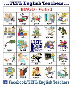 Resultado de imagen para bingo verbs 2