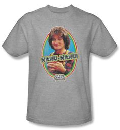 Mork and Mindy Shirt Nanu Nanu Athletic Heather T-Shirt Mork & Mindy T-shirts An awesome 100% preshrunk cotton T-shirt for any fan! Available in