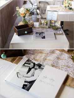 wedding guestbook idea #guestbook #weddingceremony #weddingchicks http://www.weddingchicks.com/2014/02/06/rhythm-and-recovery-wedding/