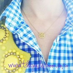 Have you order your acrylic monogrammed necklace yet? Get yours now! Starting at $25! Shop online now!  http://www.thepalemoon.com/jewelry/monogram-acrylic-necklace  #monogram #acrylicnecklace #preppy #jewelry #loveit #followme