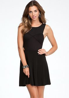 bebe   Fit & Flare Side Cutout Dress - View All