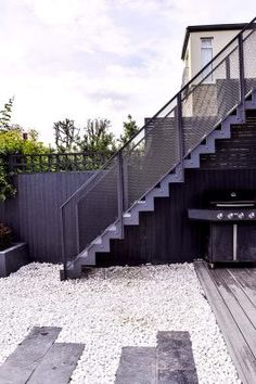 Designed and made for a private client, Acton. By Design+Weld Spiral Staircase Outdoor, Outdoor Stairs, Deck Stairs, House Stairs, Staircase Architecture, Staircase Design, Architecture Details, Staircases, External Staircase