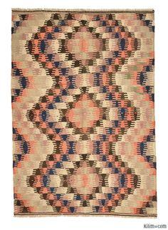 K0005660 Vintage Afyon Kilim Rug   Kilim Rugs, Overdyed Vintage Rugs, Hand-made Turkish Rugs, Patchwork Carpets by Kilim.com