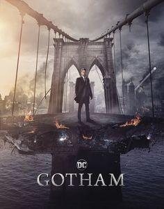 New Promotional Artwork For 'Gotham' & 'Riverdale' For New York Comic Con 2018 Gotham City, Gotham Movie, Gotham Show, Jerome Gotham, Gotham Tv Series, Jim Gordon Gotham, Movie Tv, Le Joker Batman, Gotham Batman
