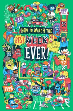 ESPN's College Football Kickoff Week website illustrated by Greg Kletsel
