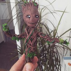 Selfmade Baby groot in sculpey