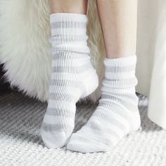 Discover luxurious and high quality cashmere sleepwear from The White Company UK. Shop floor-sweeping cashmere robes, bed socks and snuggly nightwear today. Lounge Outfit, Lounge Wear, Bed Socks, Cozy Socks, Luxury Nightwear, Frilly Socks, Fluffy Socks, Loungewear Outfits, Socks