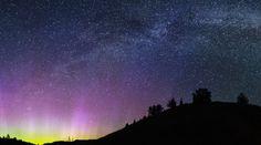 Auroras boreales y la Vía Láctea desde Oregón, Estados Unidos – El Universo Hoy