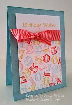 Stampinantics: A COMBINATION TO INSPIRE Memorable Moments, Four You, Birthday, Card
