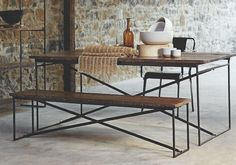 Roost Recycled Wood Bench(s) and/or Dining Table