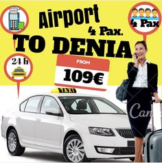 ALICANTE AIRPORT TO DENIA FOR 4 PAX www.alicante-airporttransfers.com/en/