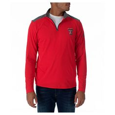 UNDER ARMOUR UNDER ARMOUR TEXAS TECH RED RAIDERS COLLEGE CHARGED COTTON QUARTER-ZIP JACKET. #underarmour #cloth #