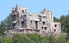 Gillette Castle sits on a bluff overlooking the Connecticut River in the center of the state. This is most likely the strangest attraction in Connecticut.
