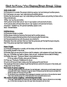 This 4 page packet is full of awesome, beginning of the year team building activities. Each team building activity has step by step procedures for ...