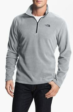 The North Face 'TKA 100 Microvelour Glacier' Quarter Zip Fleece Pullover available at #Nordstrom