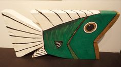 Cypress Fish: Green/White/Gold (#74)