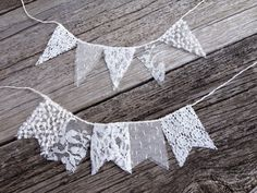 Lace wedding cake topper, bunting banner,