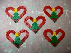 heart with fir star and christmas boot in hama beads – Famous Last Words Quilting Beads Patterns Easy Perler Bead Patterns, Perler Bead Templates, Diy Perler Beads, Perler Bead Art, Christmas Perler Beads, Beaded Christmas Ornaments, Hamma Beads Ideas, Art Perle, Motifs Perler