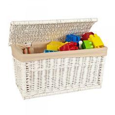 Baúl blanco de 60x31x34cm. Perfecto para guardar los juguetes de los más pequeños, los zapatos, bolsos, etc.