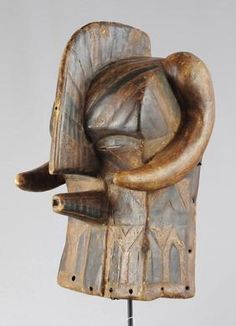 Masque zoomorphe Luba Buffle - Kifwebe - Buffalo mask no Songye MC0472
