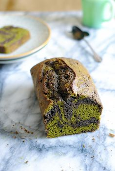 Matcha and Black Sesame Swirl Pound Cake | Honest Cooking