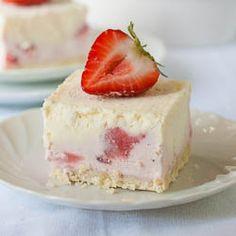 Frozen Strawberry Dessert - tastes just like ice cream!