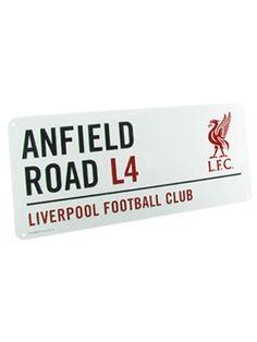 Official Liverpool FC Anfield Road L4 Metal Street Sign by Liverpool F.C., http://www.amazon.co.uk/dp/B003YLK1X8/ref=cm_sw_r_pi_dp_Hpcasb0QJ4RNT