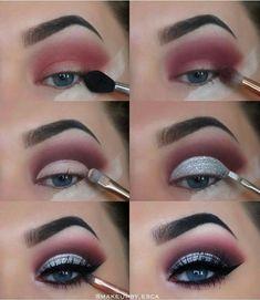 makeup tutorial 40 Winter Eye Makeup Ideas Schöne 40 Winter Eye Make-up-Ideen Makeup Goals, Makeup Inspo, Makeup Art, Makeup Inspiration, Hair Makeup, Makeup Ideas, Makeup Hacks, Makeup Meme, Makeup Basics
