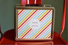 Clara de Paris loves this Personalized Lunch Box  Multicolored by PencilShavingsStudio, $28.00