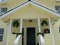 Yellow House Black Door yellow house, black shutters, red door | exteriors | pinterest