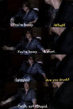 Ahh. . . Drunk Sam.   Supernatural. Playthings.
